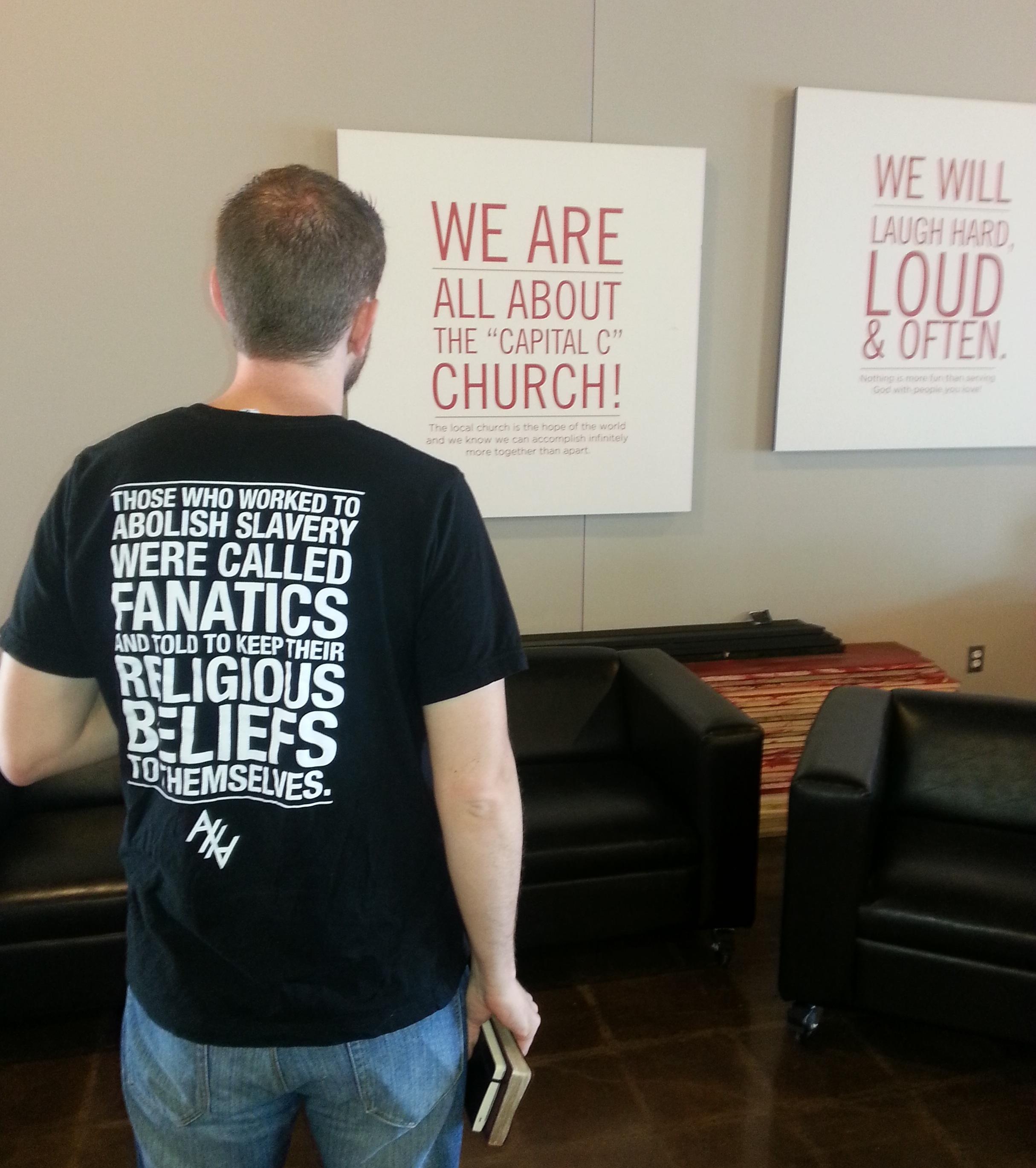Fanatics shirt Life church poster wall