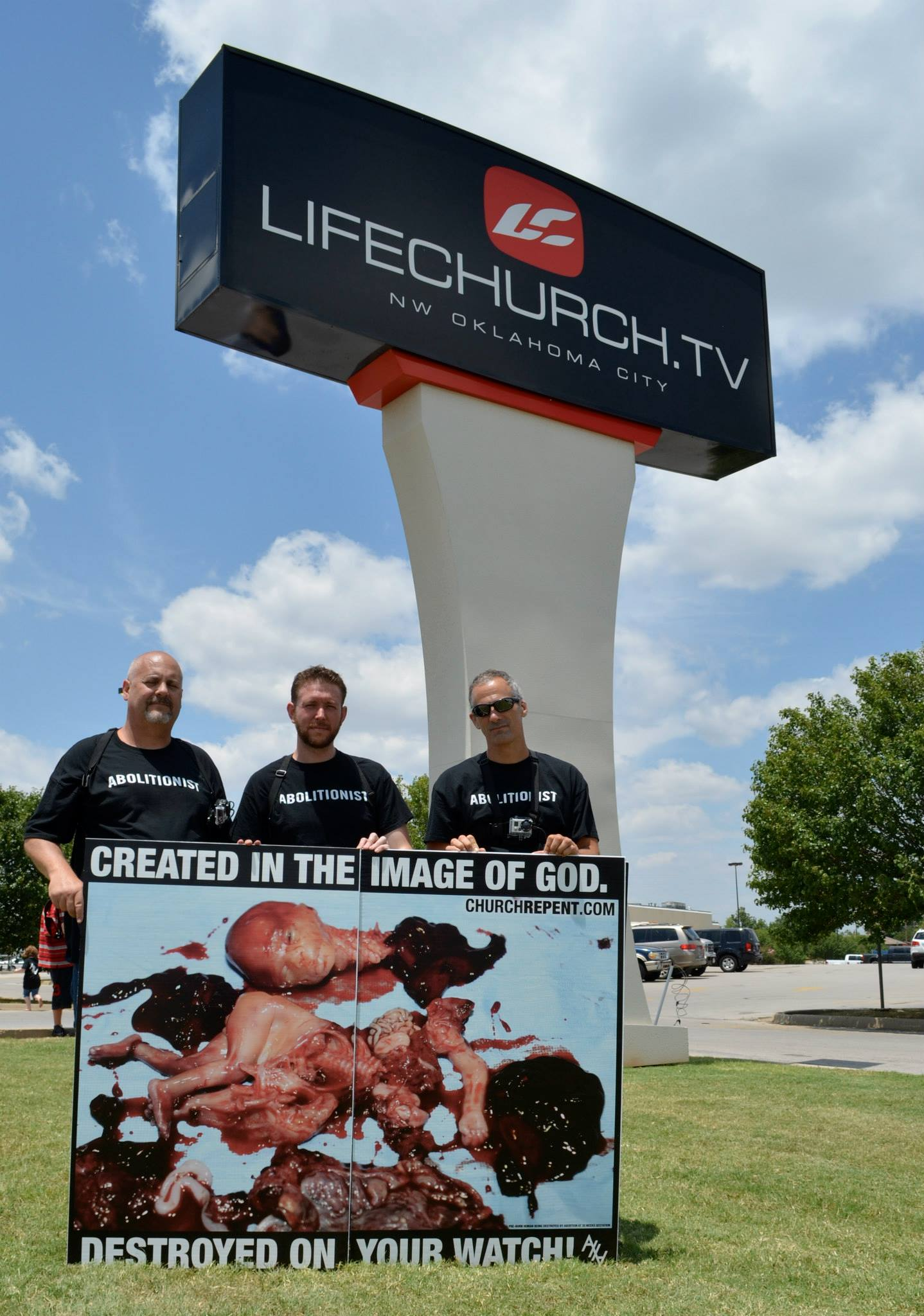 Todd, Russ, and Don outside LifeChurch.tv